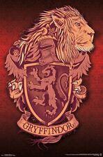 HARRY POTTER - GRYFFINDOR LION CREST POSTER - 22x34 - BOOKS 15080