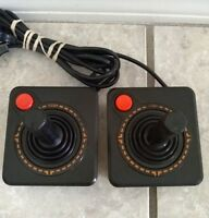 OEM Official Atari 2600 HEAVY SIXER Joystick Controller Lot Of 2 Work Perfectly
