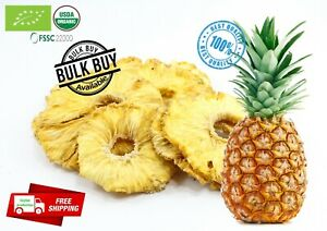 100% organic pure dried/dehydrated pineapple fruit slices/rings Ceylon free