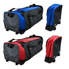 Large Folding Cabin Trolley Sports Luggage Bag Holdall Overnight Travel Wheeled