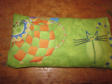 Green Fat Cats Aromatherapy Flax Seed Herb Sinus Dream Pillow hot or cold use