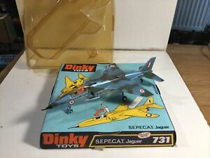 Dinky 731 Sepecat Jaguar Jet Plane Very Near Mint In Blister Pack