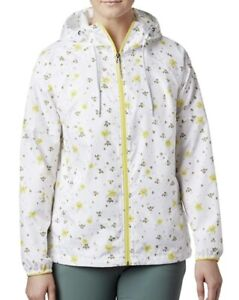 Columbia Women's Side Hill Printed Windbreaker Water Repellent in XL NWT