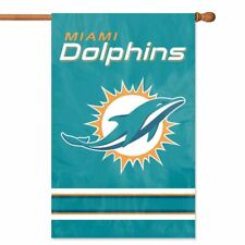 MIAMI DOLPHINS House Banner Flag PREMIUM Outdoor DOUBLE SIDED Embroidered