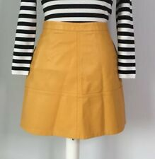 Gorgeous NEW LOOK Yellow Ochre Faux Leather Mini Skirt ~Size 12~ Blogger Style