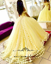 Yellow Ball Gown Quinceanera Dresses Formal Party Gown Prom Dresses Flower Dress