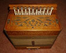 Akkordeon Koch / Hohner Wiener 21/8/ II Ton A/D Harmonika  Baujahr ca.1910