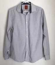 Penguin Munsingwear Men Slimfit 15 1/2 34-35 Shirt Window Pane Plaid Button Down