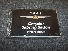 2001 Chrysler Sebring Sedan Owner Owner's Operator Manual LX LXi 2.4L 2.7L V6