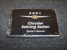 2001 Chrysler Sebring Sedan Owner Owner's Operator Manual LX LXi 2.4L 2.7L V6