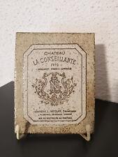 Roger CAPRON Vallauris céramique étiquette de Vin Chateau Conseillante Pomerol