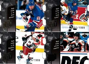 Wayne Gretzky Year of Great One Quantum Die Cut 1998-99 UD insert cards lot of 4