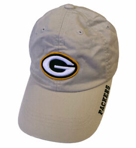 VTG Green Bay Packers Snapback Hat Cap Tan Beige Embroidered Logo - New