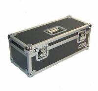 """Neo 7"""" Inch LP 300 Vinyl Record Aluminium Flight DJ Storage Case Black Color UK"""