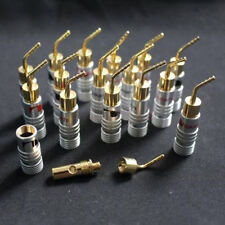 16pcs Nakamichi 24k Gold-plated Brass Speaker Wire Pin Connectors Banana Plug