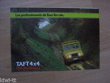 Daihatsu Taft 4x4 F50 Diesel, F20 E. Prospekt / Brochure / Depliant, Belgium (F)