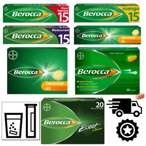 Berocca Boost Energy Vitamin Flavoured Sugar Free Tablets Brand New