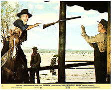 Cahill United States Marshall original lobby card John Wayne throws rifle to man