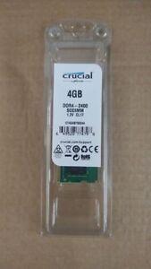 Crucial 4GB (1x4GB) PC4-19200 (DDR4-2400) 1.2v CL17 SODIMM Memory (CT4G4SFS824A)