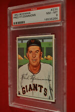 1952 Bowman - #234 - Fred Fitzsimmons - PSA 8 - NM-MT