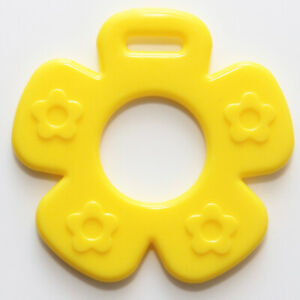 Flower Ribbon Attached Teether EN71 -3 Compliant