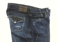 110SK009 Affliction DPSR GAGE MAGNET Jeans Men/'s Denim Boston Blue Wash