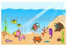 ADESIVO A4 WINDOW STICKERS FINESTRA ACQUARIO PESCI ACQUARIUS FISH FINESTRE VETRI