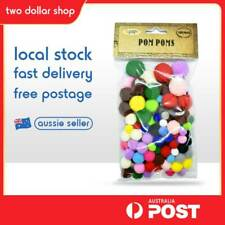100 Pieces Pom Poms Assorted Colours Craft Art decorate  4 ball size