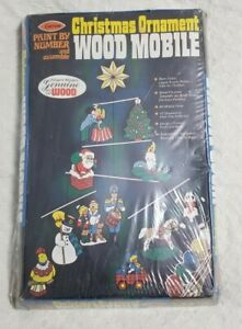Vintage Arrow 1973 Christmas Ornament Wood Mobile Paint By Number Kit Rare