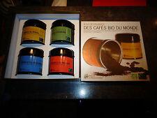 Ancienne Actuelle Boite Carton de Boites Tôle VIDES de Café Moulu Bio du Monde
