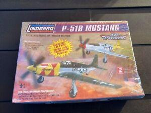 Lindberg P-51B Mustang Model Kit - New Unopened In Box 1:72