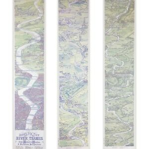 Restored Antique Victorian Map Of The River Thames