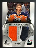 2019-20 CONNOR McDAVID UD SP Game Used All Star Weekend Jersey