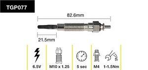 Sale- Brand new tridon tgp077 glow plug x6 fit Nissan Patrol 2.8L