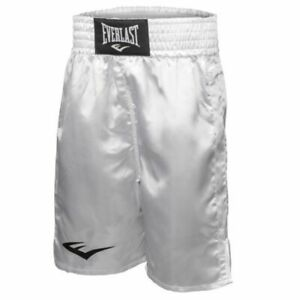 Everlast Professional Satin Boxing Shorts Sz XXL Made In USA White New in packag