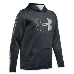 Under Armour Fleece Branded Youth Hoodie - Black, White (NEW)