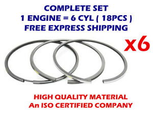 6cyl Piston Rings Set 115MM STD for IVECO 08-431100-00 F2BE3681A 7790cc TD20466