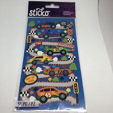Sticko Stickers RACE CARS - RACE TRACK Boys Toys Nascar Racing