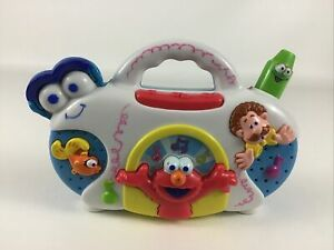 Sesame Street Elmo's World Boom Box Crayon Antenna Zany Sounds Songs 2004 Mattel