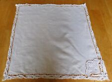 Antique Lace Tablecloth Needlework White Small