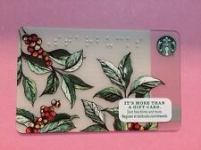 2016 Starbucks US Flower Braille card