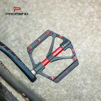 Titanium axle Aluminium MTB Mountain XC Road Bike 3 Bearings Pedals Flat Pedal