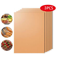 New listing 3Pcs Bbq Grill Mat Non-stick Oven Liners Cooking Baking Reusable Sheet Pad