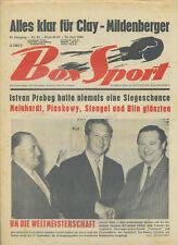 REVUE Box Sport 49. Année 1966 Nº 25 Istvan prebeg piaskowy Blin