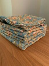POTTERY BARN OUTLET Quilted Euro Shams 26x26 Floral Set of 4