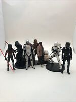 Star Wars Figurines - PVC - Disney- Lot of 8 Dearth Maul Kylo Ren Chewy Bb8