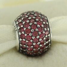 Authentic Pandora 791051CZR Red Pave Lights Sterling Silver Bead Charm