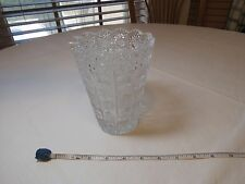 Star of David etched flower vase vintage stunning sawtooth beautiful glass