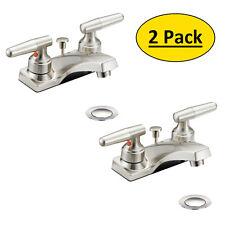 *2 Pack* Designers Impressions Satin Nickel Bathroom Vanity Faucet  #615656