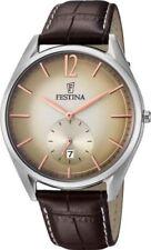 100 m (10 ATM) wasserbeständige sportliche Armbanduhren aus Silber
